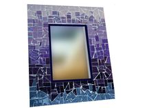 Purple Ombre Mosaic Mirror by GreenStreetMosaics on Etsy, $42.00