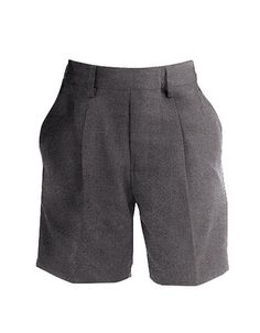 Boy's School Shorts - Grey - from age 3. Long leg style with stain resistant finish