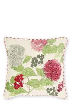 Buy Elegant Hydrangea Embroidery And Beaded Cushion from the Next UK online shop