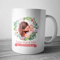 Taza personalizada con foto y nombre para mamás