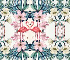 Flamigo paradise fabric by neskenasy on Spoonflower - custom fabric