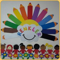 Preschool and Homeschool Preschool Color Crafts, Kindergarten Crafts, Preschool Classroom, Classroom Board, Classroom Decor, School Board Decoration, School Decorations, Art For Kids, Crafts For Kids