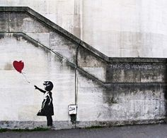 girl with a balloon no. 3 bansky graffiti art original photography by david's photography.