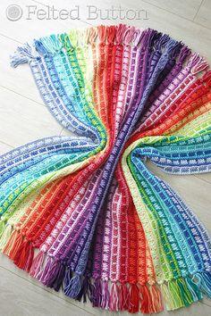 Crochet Pattern, Color Reel Blanket, Baby, Throw, Afghan