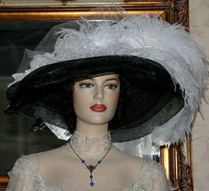 Kentucky Derby Hat Victorian Style Hat design by Darna Miss Ivory Crystal Fairy     $179.00