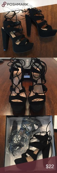 fb7331ce1d7 Shop Women s Fashion Nova Black size 9 Heels at a discounted price at  Poshmark. Description  BRAND NEW Fashion Nova Suede Lace-Up Heels!