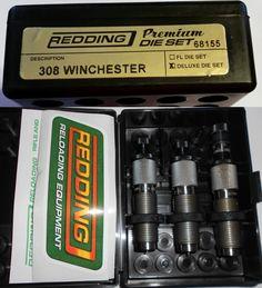 Dies 31825: 68155 Redding 3-Die Premium Deluxe Bottle Neck Set - 308 Winchester - Brand New -> BUY IT NOW ONLY: $144.99 on eBay!