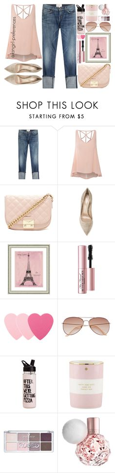 """""""Light"""" by fangirl-preferences ❤ liked on Polyvore featuring Current/Elliott, Glamorous, Forever 21, Gianvito Rossi, Vintage Print Gallery, Too Faced Cosmetics, Sephora Collection, H&M and Kate Spade"""