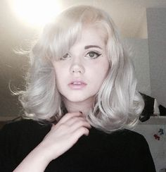 Love the platinum hair. Also love the feminist commentary in the blog post.