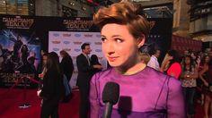 "Guardians of the Galaxy: Karen Gillan ""Nebula"" Red Carpet Movie Premiere Interview"