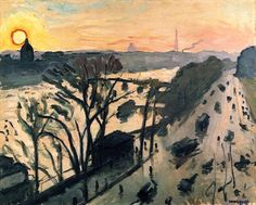 The Louvre Embankment - Albert Marquet (the most amazing painter I never heard of)