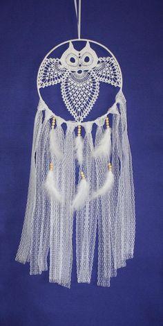 Crochet Dreamcatcher Pattern, Crochet Rug Patterns, Crochet Owls, Granny Square Crochet Pattern, Easy Knitting Patterns, Crochet Mandala, Crochet Art, Macrame Patterns, Crochet Doilies
