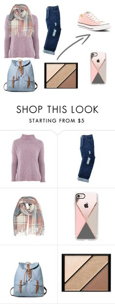"""cold winters day"" by rebeccaneighbour on Polyvore featuring Topshop, Avon, Casetify, Elizabeth Arden and Converse"