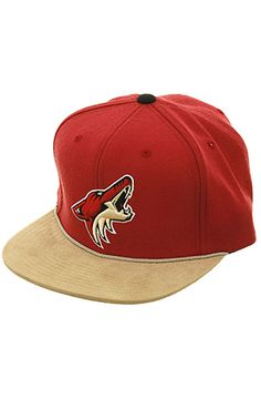 Cap Central Hat The Mitchell & Ness Phoenix Coyotes Strapback in Cardinal and Tan Phoenix Coyotes, Dope Hats, Streetwear Fashion, Snapback, Cap, Style, Baseball Hat, Swag, High Street Fashion
