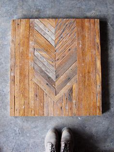 coffee table built from salvaged oak flooring by brooklyn to west