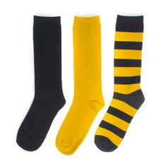 Navy + Yellow 3-Pack Crew Socks #Blue #Maize #Michigan