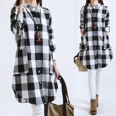 Quality Women Tops Plus Size Women Clothing Plaid Blouse Long Sleeve Women Blouses Cotton Linen Women Shirts Casual Vintage tops with free worldwide shipping on AliExpress Mobile Cheap Blouses, Blouses For Women, Kurta Designs, Blouse Designs, Vintage Dresses For Sale, Plus Size Womens Clothing, Long Blouse, Trends 2018, Laura Ashley