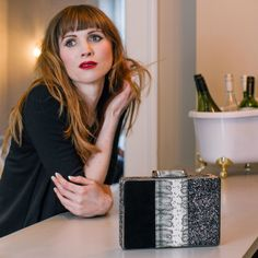Black & Silver Multi Textured Box Clutch – by British handbag brand Amilu    With a combo of 3 contrasting but complimentary textures - black faux suede, grey snake and silver sparkle, this great sized hard cased clutch bag will glam up any outfit and is the perfect accessory on a party night out.     #handbag #clutch #style fashion #outfit #goingout #dinnerdate #bag