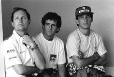 Ron Dennis,Alain Prost & A. Senna (Brazil 1989)