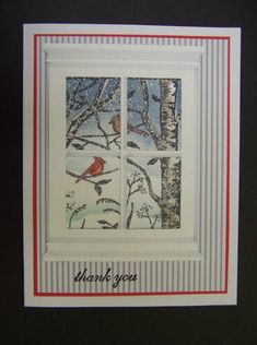 CAS150 TLC357 Cardinals in the Snow by hobbydujour - Cards and Paper Crafts at Splitcoaststampers