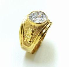 Vintage 18K Gold Ancient Inca Symbol Ring #18k #Statement #vintagejewelry