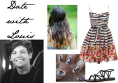 """""""Date with Louis"""" by for-the-love-of-music ❤ liked on Polyvore"""