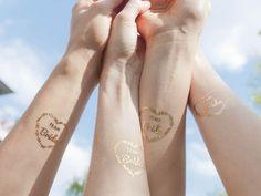 Wedding Accessories – Team Bride Tattoo Set. Via en.DaWanda.com.