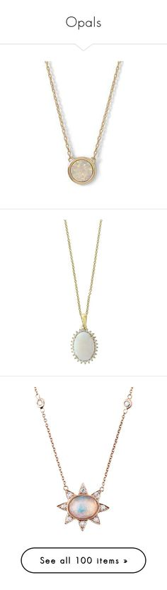 """Opals"" by daughter-of-apollo92 ❤ liked on Polyvore featuring jewelry, necklaces, circle necklace, white opal necklace, white necklace, white jewelry, opal necklace, gold, 14k gold pendants and diamond necklace"