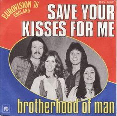 Brotherhood of Man. Save Your Kisses For Me was the winning song of the Eurovision Song Contest 1976, groovy dance moves!