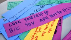 Messages written by Crescenta Valley High School Gay Straight Alliance allies