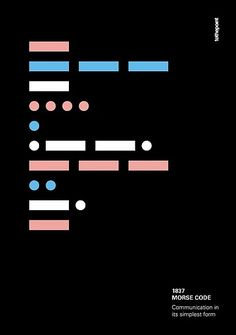 'morse code - communication in its simplest form' Poster by tothepoint Morse Code Letters, Morse Code Words, Poster Design, Graphic Design Posters, Form Poster, Code Wallpaper, Code Art, Coding For Kids, Letter Form