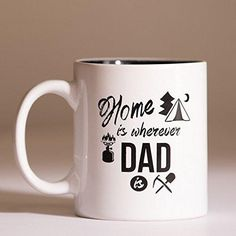 Coffee Mugs Home is Wherever Dad is 11oz Coffee Tea Cup Best Father's Day Gift From Daughter and Son Unique Gifts For Dad and Grandpa Father's Day Christmas Birthday