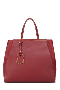 30f7d95af8f2 Fendi Ruby Red Vitello Elite 2Jours Large - What Goes Around Comes Around  Ruby Red