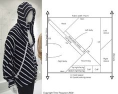 zero waste hoodie pattern Pattern Cutting, Jacket Pattern, Zero Waste, Portfolio Design, Sewing Patterns, Fabric, Jackets, Mens Tops, Clothes
