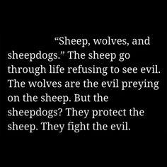 Be a sheepdog. American Sniper