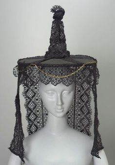 Woman's hat        French (Burgundy, Bourg-en-Bresse), 19th century