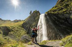 5x wöchentlich geführte Wanderungen zu den schönsten Plätzen und Hot Spots in Hintertux/Zillertal und Tirol - das gibt es nur im Adler Inn Hotel Adler, Waterfall, Travel, Outdoor, Summer Vacations, Nice Asses, Outdoors, Viajes, Waterfalls