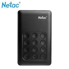 Netac Original K390 USB3.0 External Hard Drive Disk 500GB 1TB 2TB Keypad Lock AES 256-bit Hardware Encryption HDD High-Speed