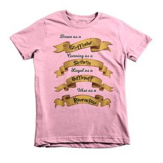 Hogwarts House Traits Short sleeve kids t-shirt
