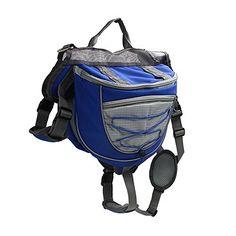 Dog Backpack, PYRUS Dog Hiking Packs Adjustable Saddlebag Style Dog Accessory for Hiking Camping Travel {affiliate link}