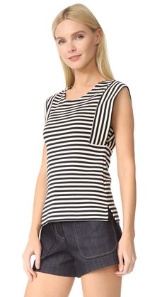 derek-lam-sleeveless-top-navyivory