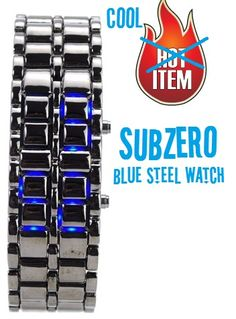 Sub-Zero Blue Steel Watch    $49.95    Freeze Time With The Subzero Blue Steel Watch!