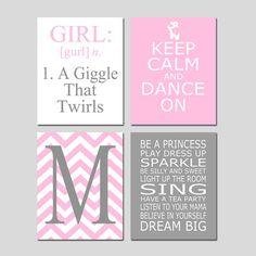 Dance Girl Bedroom Art Nursery Decor  Girl Definition by Tessyla
