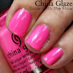 China Glaze Glow With the Flow Nail Polish // Electric Nights Neon Collection
