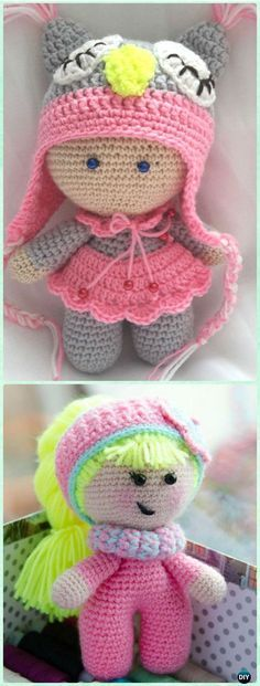 Amigurumi Crochet Baby Doll Free Pattern - Crochet Doll Toys Free Patterns