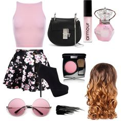 light pink by wisemankendall on Polyvore featuring polyvore fashion style Giuseppe Zanotti Chloé Chanel Armour Urban Decay Lipsy