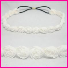 make headband from flower ribbon