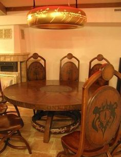 Lord of the rings table and chairs