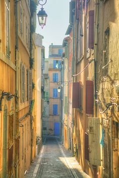 Marseille - France:great place to grab a coffee and pastry and walk in the early morning♥