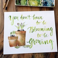 "And maybe tonight finds you here as well: Don't compare your soil cultivating, seed soaking, root developing season to another's leafy, flowery blooms. God doesn't waste one drop of rain or deluge of tears...He's doing a work in you in every season: ""And I am sure of this, that he who began a good work in you will bring it to completion at the day of Jesus Christ."" (Philippians 1:6) // Print available in #gracelacedshoppe.  #thegospeltransforms #gracelacedart #watercolor…"